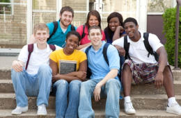 [Image of a group of high school students] Click the button below for information about education programs