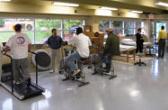 Image of patients in physical therapy center
