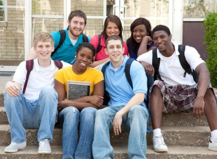 Image of a group of high school students